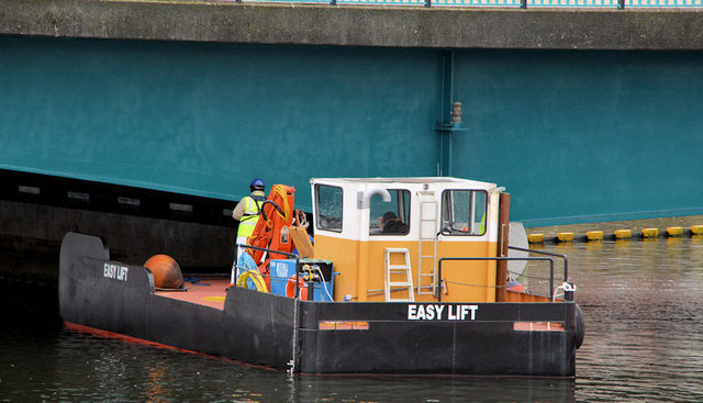 """Easy Lift"" workboat, River Lagan, Belfast"