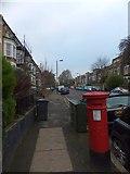 TQ2976 : Victorian pillarbox in Bromfelde Road by David Smith