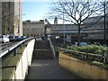 SP0687 : Steps and ramp to the subway between Summer Row and Paradise Circus by Robin Stott