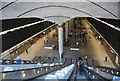 TQ3780 : Escalators down to Canary Wharf Station by N Chadwick