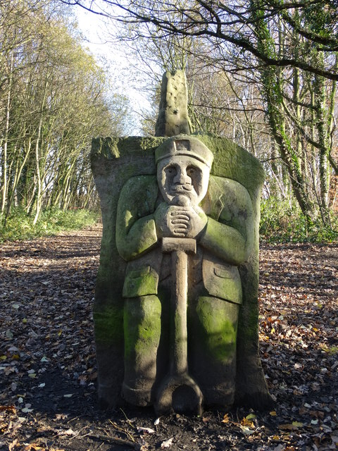 End of a stone bench - Transpennine Trail