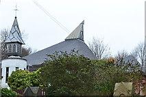 SK3488 : St Bartholomew's Church Spires from Burgoyne Road, Sheffield - 2 by Terry Robinson