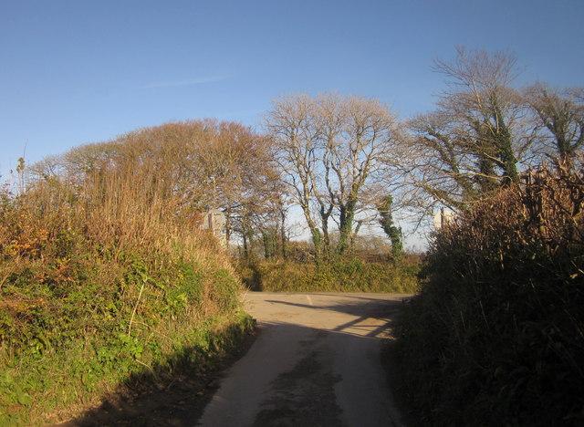 Junction near Bake