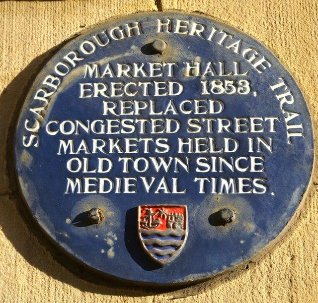 Photo of Market Hall, Scarborough blue plaque