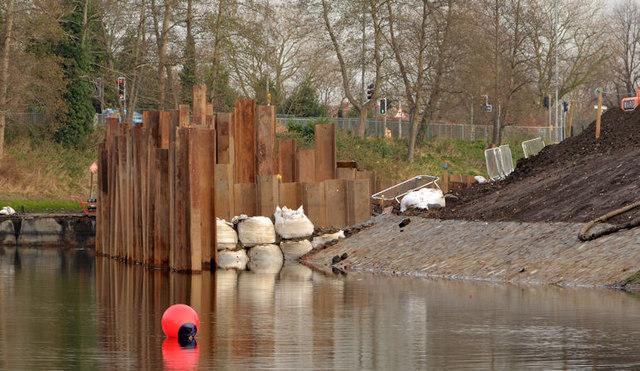 Revetment works, River Lagan, Belfast (2 in 2013)