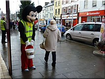 H4572 : Street collection, Omagh by Kenneth  Allen