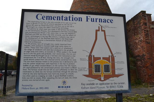 Cementation Furnace Information Board Terry Robinson Cc By Sa