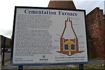 SK3487 : Cementation Furnace Information Board, Doncaster Street, Shalesmoor, Sheffield by Terry Robinson