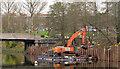 J3371 : Revetment works, River Lagan, Belfast (3 in 2013) by Albert Bridge