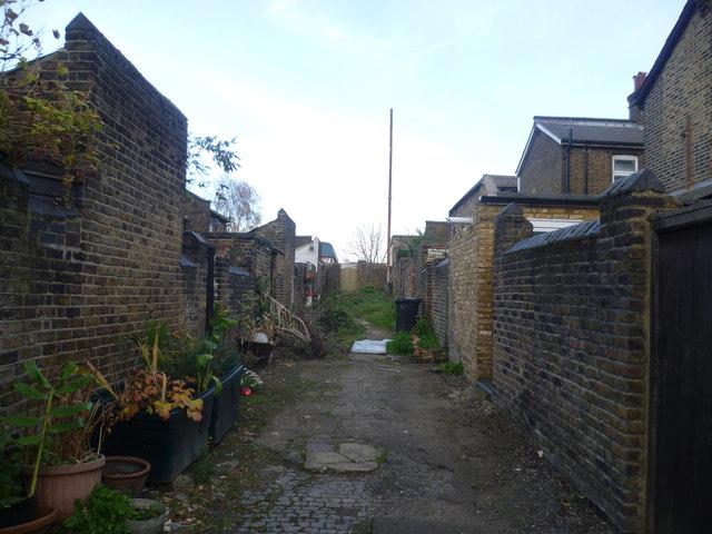 A back alley in Harlesden