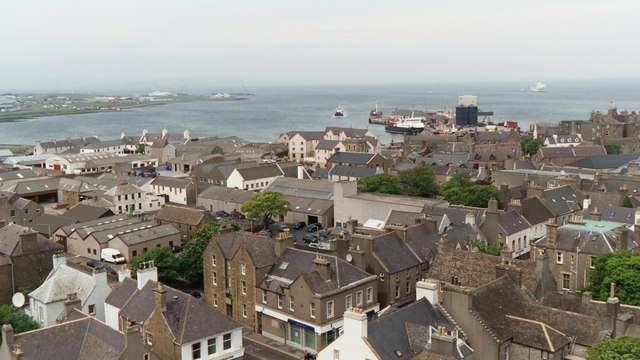 Kirkwall from the cathedral