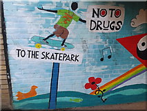 TM3877 : To the Skatepark Mural by Geographer