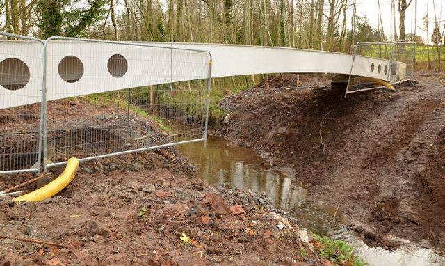 New footbridge, Orangefield Park, Belfast (1)