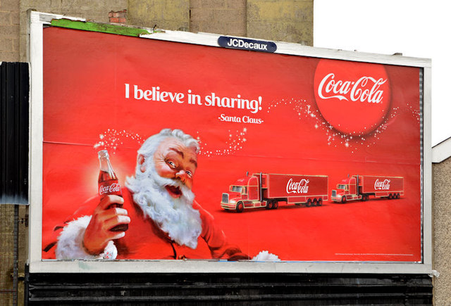 Coca-Cola Christmas poster, Belfast (2013)
