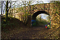 SD4557 : Bridge over disused railway by Ian Taylor