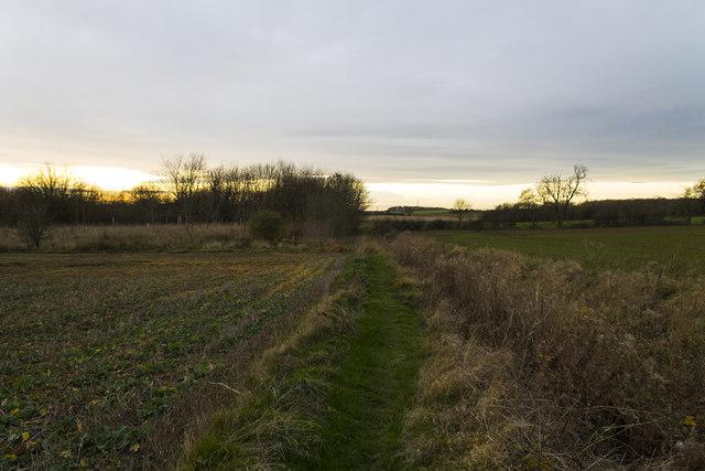 Public footpath to Brauncewell