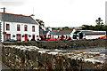 M2208 : Ballyvaghan - White & Red B&B, Monk's Seafood Pub & Restaurant & CIE Bus by Joseph Mischyshyn