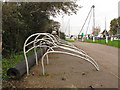 SX9686 : Curlew-shaped cycle stands by Stephen Craven