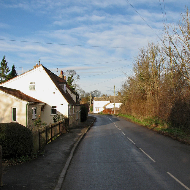 Little Shelford: the south end of High Street