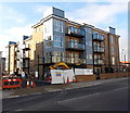 SU4013 : Flats construction site, Shirley Road, Southampton by Jaggery