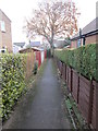SE1546 : Footpath - Hall Drive by Betty Longbottom