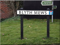 TM3877 : Blyth Mews sign by Adrian Cable