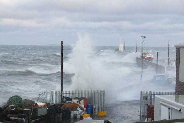 High water plus storm surge at Seahouses