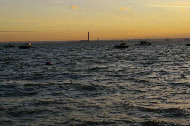 Southend-on-Sea: looking across the Thames estuary