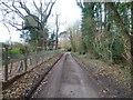 TR2047 : Road past Walderchain by Marathon