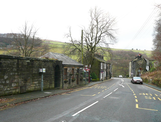 Remains of Church Bank Mill, Blackstone Edge Road, Cragg Vale