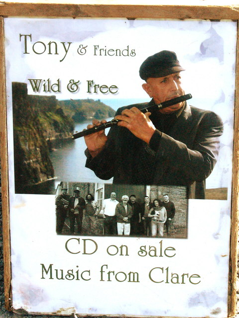 "Cliffs of Moher - Tin Whistler Sign - Tony & Friends ""Wild & Free"" CD on Sale"