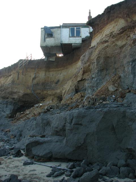 Storm surge damage, Happisburgh