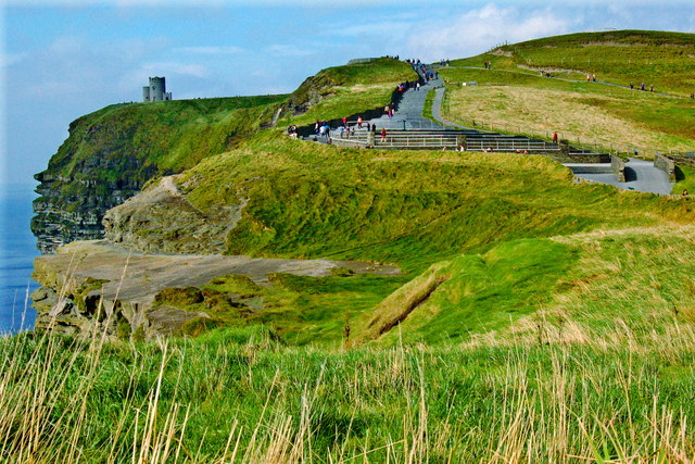 Cliffs of Moher - Ledge and Northwestern Path/Steps to O'Brien's Tower at Top