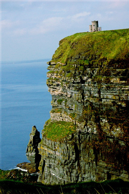 Cliffs of Moher - Shear vertical Drop from O'Brien's Tower to Atlantic Ocean