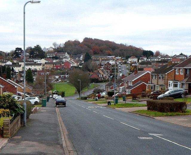 Suburban view along Rowan Way, Malpas, Newport