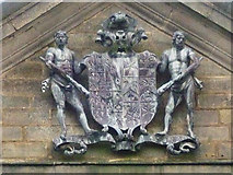 SD6838 : Shireburn coat of arms, Hurst Green Almshouses by Karl and Ali