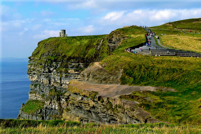 Cliffs of Moher - Former Observation Ledge, Northwestern Path with Steps, O'Briens Tower