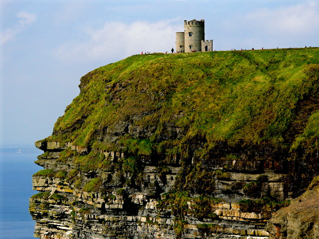 Cliffs of Moher - O'Brien's Tower - Horizontal Orientation
