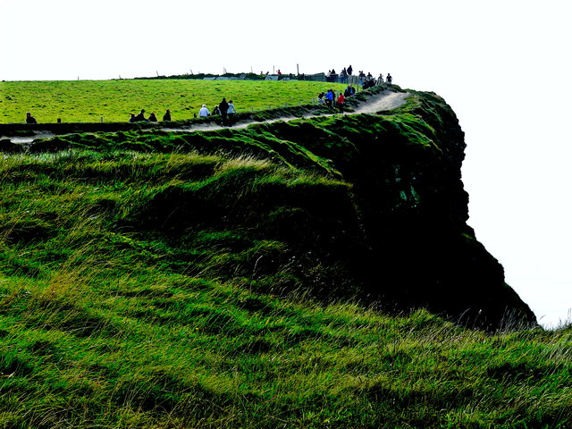 Cliffs of Moher - Top of Southwestern Path at Edge of Cliffs