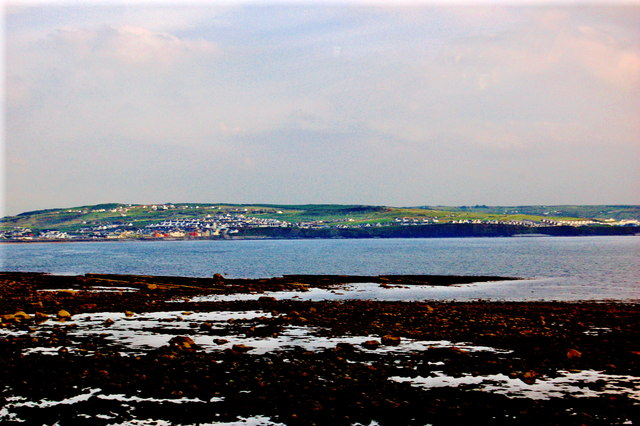 Liscannor Bay in Foreground, Lehinch in Distance