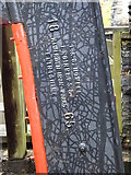 SC4384 : Makers name on Snaefell or the Lady Evelyn waterwheel by Richard Hoare