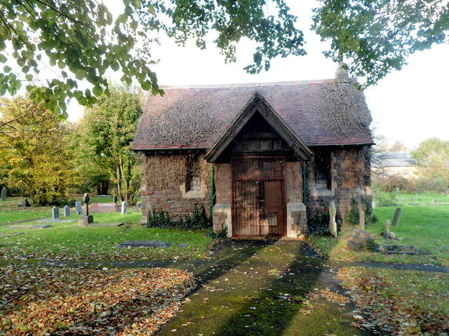 Disused chapel in St Mary Redcliffe Cemetery, Bristol