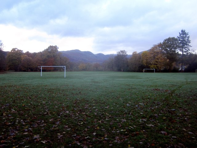 Football pitch in Rothay Park, Ambleside