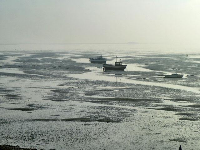 Boats on the mud, Thorpe Bay