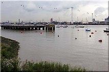 TQ3979 : A jetty near the O2 Arena by Steve Daniels