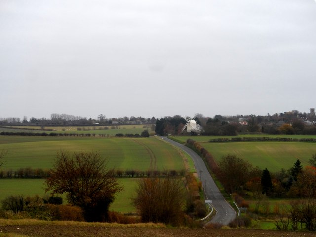 Chishill Windmill and B1039
