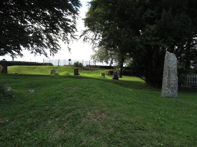 The graveyard of the deconsecrated St Patrick's CoI Parish Church at Tara