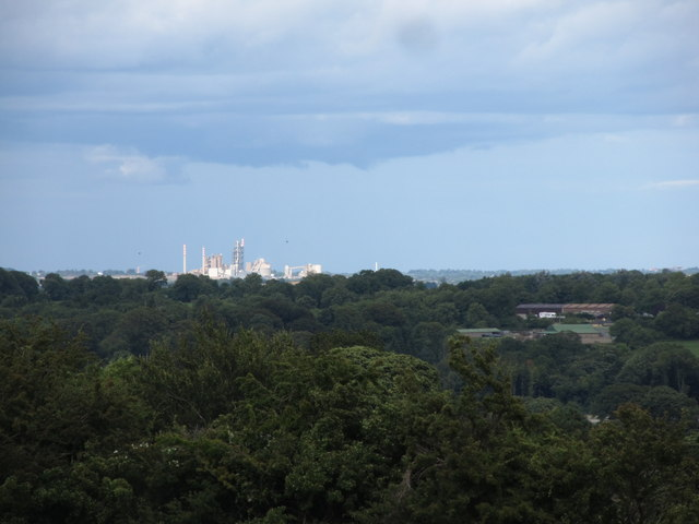 The Platin Cement Works viewed from the Hill of Tara