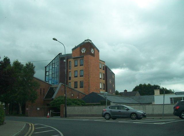 St Mary's Navan Credit Union building from the Abbey Road roundabout