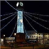 SO1408 : The Tredegar Town Clock with Christmas illuminations by Robin Drayton